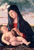Madonna and Child in a Landscape  c. 1480  Giovanni Bellini (c.1430-1516/Italian)