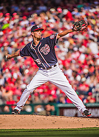 23 May 2015: Washington Nationals pitcher A.J. Cole on the mound during a game against the Philadelphia Phillies at Nationals Park in Washington, DC. The Phillies defeated the Nationals 8-1 in the second game of their 3-game weekend series. Mandatory Credit: Ed Wolfstein Photo *** RAW (NEF) Image File Available ***