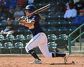 Michigan Wolverines Softball shortstop Sierra Romero (32) at bat during a game against the Bethune-Cookman on February 9, 2014 at the USF Softball Stadium in Tampa, Florida.  Michigan defeated Bethune-Cookman 12-1.  (Copyright Mike Janes Photography)