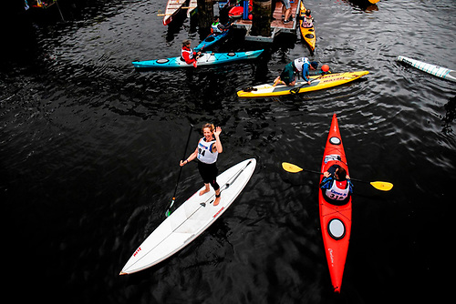 Paddlers at the Ocean to City Race in Cork Harbour