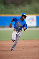 Toronto Blue Jays center fielder Reggie Pruitt (63) runs the bases during an Instructional League game against the Philadelphia Phillies on October 7, 2017 at the Englebert Complex in Dunedin, Florida.  (Mike Janes/Four Seam Images)