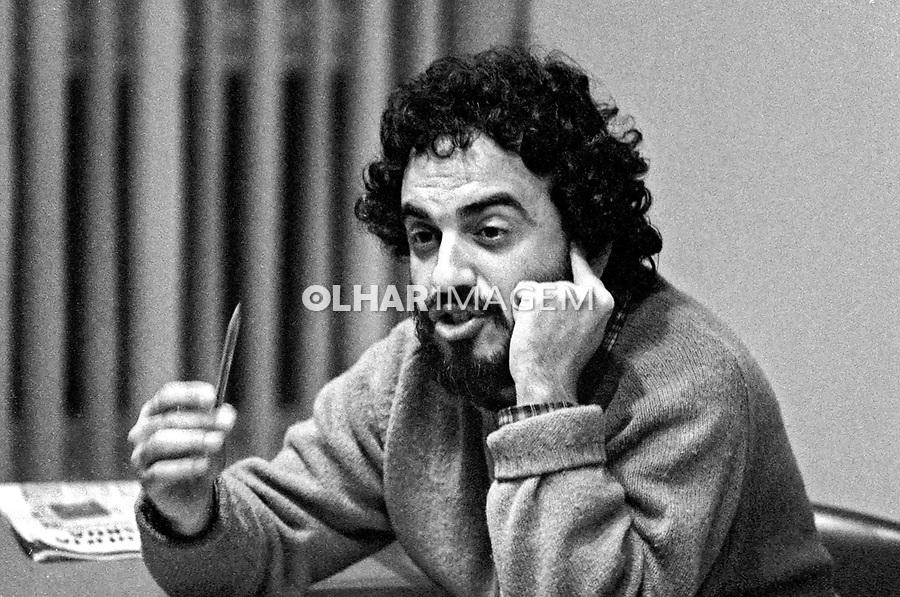 Pessoa. Personalidade. Henfil, carunista e artista gráfico. SP. 1982. Foto de Juca Martins.