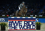 Philipp Weishaupt of Germany riding Chacon in action during the Longines Speed Challenge during the Longines Masters of Hong Kong at AsiaWorld-Expo on 10 February 2018, in Hong Kong, Hong Kong. Photo by Ian Walton / Power Sport Images