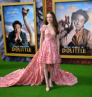 "LOS ANGELES, USA. January 11, 2020: Carmel Laniado at the premiere of ""Dolittle"" at the Regency Village Theatre.<br /> Picture: Paul Smith/Featureflash"