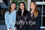 Enjoying the evening out in the Ashe Hotel on Thursday, l to r: Megan O'Donnell, Tamila Khussainova and Lauren Griffin.