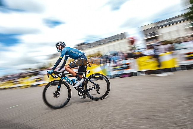 Alejandro Valverde (ESP) Movistar Team at sign on before the start of Stage 4 of the 2021 Tour de France, running 150.4km from Redon to Fougeres, France. 29th June 2021.  <br /> Picture: A.S.O./Charly Lopez | Cyclefile<br /> <br /> All photos usage must carry mandatory copyright credit (© Cyclefile | A.S.O./Charly Lopez)