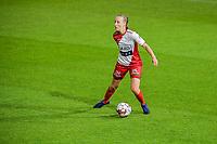 Ella Vierendeels (4) of Zulte waregem pictured during a female soccer game between AA Gent Ladies and SV Zulte-Waregem on the fifth matchday in the 2021 - 2022 season of Belgian Scooore Womens Super League , friday 1 October 2021  in Oostakker , Belgium . PHOTO SPORTPIX | STIJN AUDOOREN
