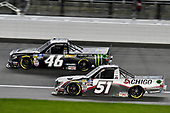 #46: Riley Herbst, Kyle Busch Motorsports, Toyota Tundra Monster Energy/Advance Auto Parts and #51: Brandon Jones, Kyle Busch Motorsports, Toyota Tundra Chigo/Menards