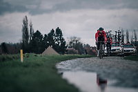 Team Lotto-Soudal<br /> <br /> parcours recon of the 116th Paris-Roubaix 2018, 3 days prior to the race