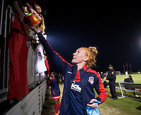 Boyds, MD - April 16, 2016: Washington Spirit defender Victoria Huster (23). The Washington Spirit defeated the Boston Breakers 1-0 during their National Women's Soccer League (NWSL) match at the Maryland SoccerPlex.