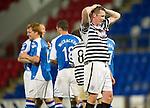 St Johnstone v Queens Park....25.09.12      Scottish Communities League Cup 3rd Round.Michael Keenan shows his despair as saints celebrates Liam Craig's goal.Picture by Graeme Hart..Copyright Perthshire Picture Agency.Tel: 01738 623350  Mobile: 07990 594431