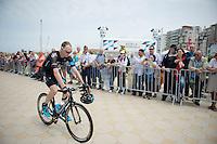 Chris Froome (GBR/SKY) to the start<br /> <br /> 2014 Tour de France<br /> stage 4: Le Touquet-Paris-Plage/Lille Métropole (163km)