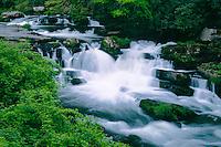 Waterfall on the Nantahala River<br /> Nantahala River Gorge,  Forest Road 67<br /> Nantahala National Forest<br /> Appalachian Mountains,  North Carolina