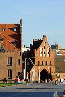 """Altes Stadttor """"Wassertor"""" und Zollhaus in Wismar, Mecklenburg-Vorpommern, Deutschland, UNESCO-Weltkulturerbe"""