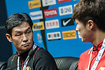 Head coach of FC Seoul Choi Yong-soo attends press conference ahead of the AFC Champions League Group H Group Stage between Guangzhou Evergrande and FC Seoul at  Guangzhou Tianhe Sport Center on 24 February 2015 in Guangzhou, China. Photo by Xaume OIleros / Power Sport Images