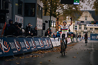 CX world Champion Sanne Cant (BEL/Iko-Beobank) finally wins her first race of the season<br /> <br /> women's race<br /> Soudal Jaarmarktcross Niel 2018 (BEL)