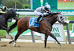 May 8, 2021: Victim of Love, ridden by Joel Rosario, wins the 2021 running of the G3 Vagrancy H. at Belmont Park in Elmont, NY. Sophie Shore/ESW/CSM