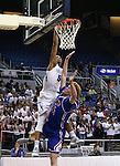 Bishop Gorman's Chuck O'Bannon shoots over Reno defender David Kyle during the NIAA Division I state basketball tournament in Reno, Nev. on Thursday, Feb. 25, 2016. Gorman won 70-39. Cathleen Allison/Las Vegas Review-Journal