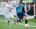 Forfar's Danny Denholm tries to get away from Ayr Utd's Scott McLaughlin.