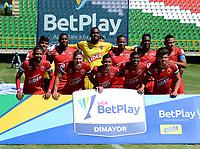 TUNJA - COLOMBIA, 30-01-2021: Jugadores de Patriotas Boyaca F. C., posan para una foto, antes de partido de la fecha 3 entre Patriotas Boyaca F. C., y Boyaca Chico F. C., por la Liga BetPlay DIMAYOR I 2021, jugado en el estadio La Independencia de la ciudad de Tunja. / Players of Patriotas Boyaca F. C., pose for a photo, prior a match of the 3rd date between Patriotas Boyaca F. C., and Boyaca Chico F. C., for the BetPlay DIMAYOR I 2021 League played at the La Independencia stadium in Tunja city. / Photo: VizzorImage / Macgiver Baron / Cont.