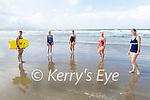 Rachel Fitzgerald, Mary Dowling, Angela Ryan, Barbara O'Grady and Deirdre Courtney from Ardfert ready to hit the waves for a swim in Banna Beach on Tuesday.