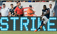 FOXBOROUGH, MA - JULY 27: Cristian Penilla #70 passes the ball during a game between Orlando City SC and New England Revolution at Gillette Stadium on July 27, 2019 in Foxborough, Massachusetts.