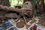 Munda, Western Province, Solomon Islands; machine guns and ammunition at the Peter Joseph World War II Museum, named by the owner, Barry, after the soldier on the first dog tag with which he began his collection