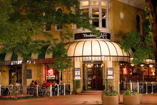 The Boulder Cafe on the Pearl Street Mall, Boulder, Colorado. John offers private photo tours of Boulder, Denver and Rocky Mountain National Park. .  John leads private photo tours in Boulder and throughout Colorado. Year-round.