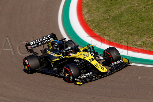 31st October 2020, Imola, Italy; FIA Formula 1 Grand Prix Emilia Romagna, Qualifying;  3 Daniel Ricciardo AUS, Renault DP World F1 Team