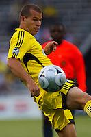 27 MAY 2009: #10 Alejandro Moreno, Columbus Crew forward in action during the San Jose Earthquakes at Columbus Crew MLS game in Columbus, Ohio on May 27, 2009. The Columbus Crew defeated San Jose 2-1