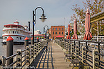 Riverboat Henrietta III at the historical riverfront district of Wilmington, NC, USA