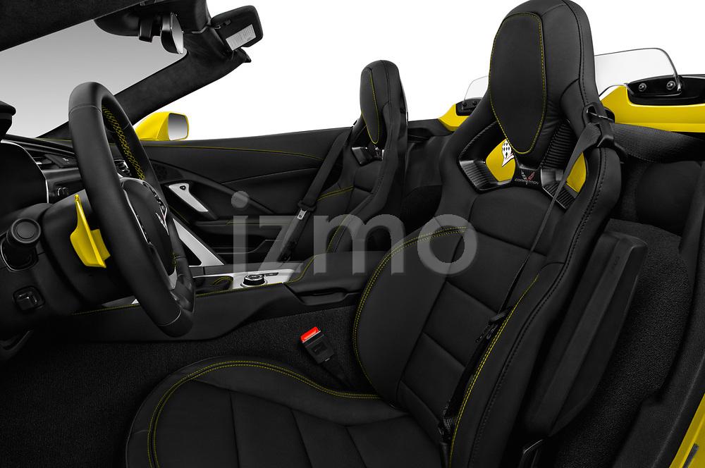 Front seat view of 2018 Chevrolet Corvette Grand-Sport-3LT 2 Door Convertible Front Seat  car photos