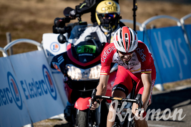 Jesus Herrada (ESP/Cofidis) rolling in 2nd at the finish up Mont Aigoual<br /> <br /> Stage 6 from Le Teil to Mont Aigoual (191km)<br /> <br /> 107th Tour de France 2020 (2.UWT)<br /> (the 'postponed edition' held in september)<br /> <br /> ©kramon
