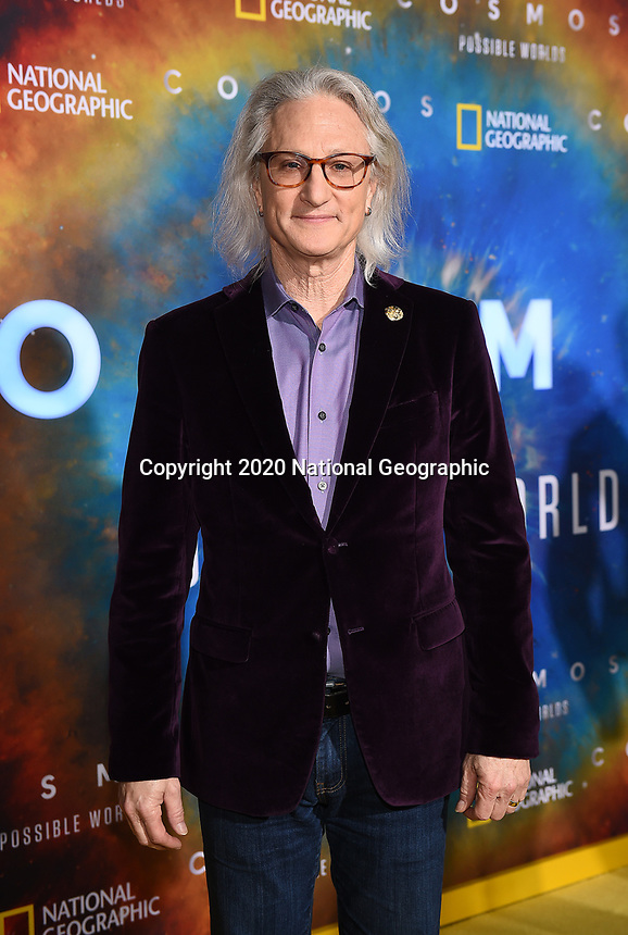 """LOS ANGELES - FEBRUARY 26: Visual effects supervisor Jeffrey A. Okun attends National Geographic's 2020 Los Angeles premiere of """"Cosmos: Possible Worlds"""" at Royce Hall on February 26, 2020 in Los Angeles, California. Cosmos: Possible Worlds premieres Monday, March 9 at 8/7c on National Geographic. (Photo by Frank Micelotta/National Geographic/PictureGroup)"""