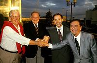 FILE -<br /> Jacques Parizeau et camille Laurin (D)<br /> , entre 1991 et 1995<br /> <br /> <br /> <br /> PHOTO  : Pierre Roussel - Agence Quebec Presse