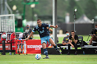LAKE BUENA VISTA, FL - JULY 23: Ali Adnan #53 of Vancouver Whitecaps FC kicking the ball during a game between Chicago Fire and Vancouver Whitecaps at Wide World of Sports on July 23, 2020 in Lake Buena Vista, Florida.