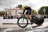 Esteban Chaves (COL/Mitchelton-Scott) at the start of Stage 5 (ITT): Barbentane to Barbentane (25km)<br /> 77th Paris - Nice 2019 (2.UWT)<br /> <br /> ©kramon