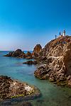 Spanien, Andalusien, Provinz Almería, Costa de Almería, Cabo de Gata: Naturpark, Kueste, Leuchtturm | Spain, Andalusia, Province Almería, Costa de Almería, Cabo de Gata: nature reserve, coastline, lighthouse