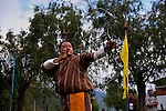 A man practicing archery. Archarie is very popular and the national sports of Bhutan. Arindam Mukherjee..