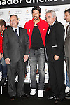 Real Madrid player Sami Khedira (c) and the President Florentino Perez participate and receive new Audi during the presentation of Real Madrid's new cars made by Audi at the Jarama racetrack on November 8, 2012 in Madrid, Spain.(ALTERPHOTOS/Harry S. Stamper)