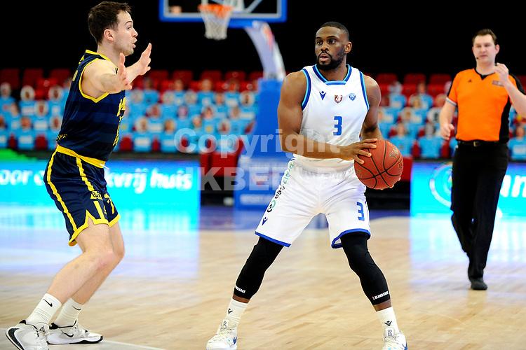 24-03-2021: Basketbal: Donar Groningen v Landstede Hammers: Groningen, Donar speler Jarred Ogungbemi-Jackson