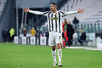 3rd January 2021, Allianz Stadium, Turin Piedmont, Italy; Serie A Football, Juventus versus Udinese; Cristiano Ronaldo of Juventus Fc gestures during the Serie A match between Juventus FC and Udinese