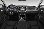 Stock photo of straight dashboard view of 2017 Chrysler 300 C 4 Door Sedan Dashboard
