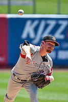 Albuquerque Isotopes starting pitcher Eddie Butler (31) warms up in the bullpen before the game against the Salt Lake Bees in Pacific Coast League action at Smith's Ballpark on June 28, 2015 in Salt Lake City, Utah. The Isotopes defeated the Bees 8-3. (Stephen Smith/Four Seam Images)