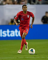 NASHVILLE, TN - JULY 3: Reggie Cannon #14 during a game between Jamaica and USMNT at Nissan Stadium on July 3, 2019 in Nashville, Tennessee.