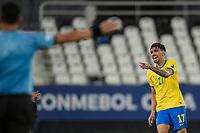 5th July 2021; Nilton Santos Stadium, Rio de Janeiro, Brazil; Copa America, Brazil versus Peru; Lucas Paquetá of Brazil celebrates his goal in the 43th minute for 1-0