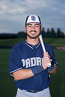 AZL Padres 2 Mason House (40) poses for a photo before a game against the AZL Cubs on August 28, 2017 at Sloan Park in Mesa, Arizona. AZL Cubs defeated the AZL Padres 2 9-4. (Zachary Lucy/Four Seam Images)