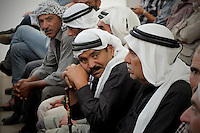 Firing zone 918 in the High Court of Justice. Palestinian villagers, members of the 12 villages in the area called Firing Zone 918 are seen in the court as they wait for the ruling on the future of their villages. Photo by Quique Kierszenbaum