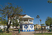 Goias Velho, Brazil. Well preserved colonial town. Bandstand, now used as a street cafe.