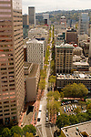 Aerial View of the TriMet Transit Mall in Portland, Oregon